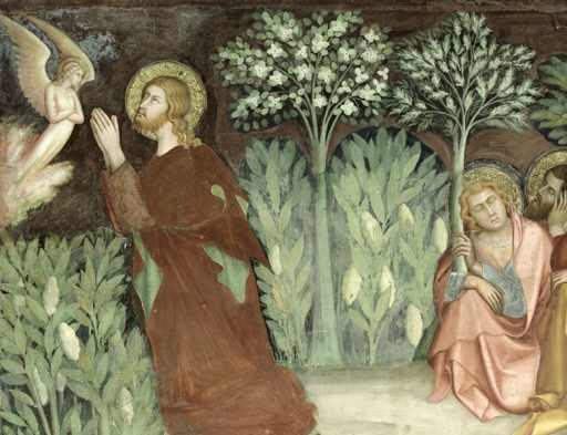 Christ in the Garden of Gethsemane, from a series of Scenes of the New Testament (fresco)