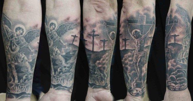 jesus_st_michael_tattoo_sleeve_rohan_begolo_by_rohanrb-d6tyua4
